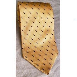 "Stafford Neck Tie, Yellow, 58"" L  4"" W 100% silk"